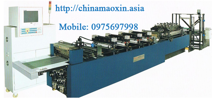 Máy làm túi 3 biên,túi đứng MX 400-Bag making Machine for three-side seal and standing