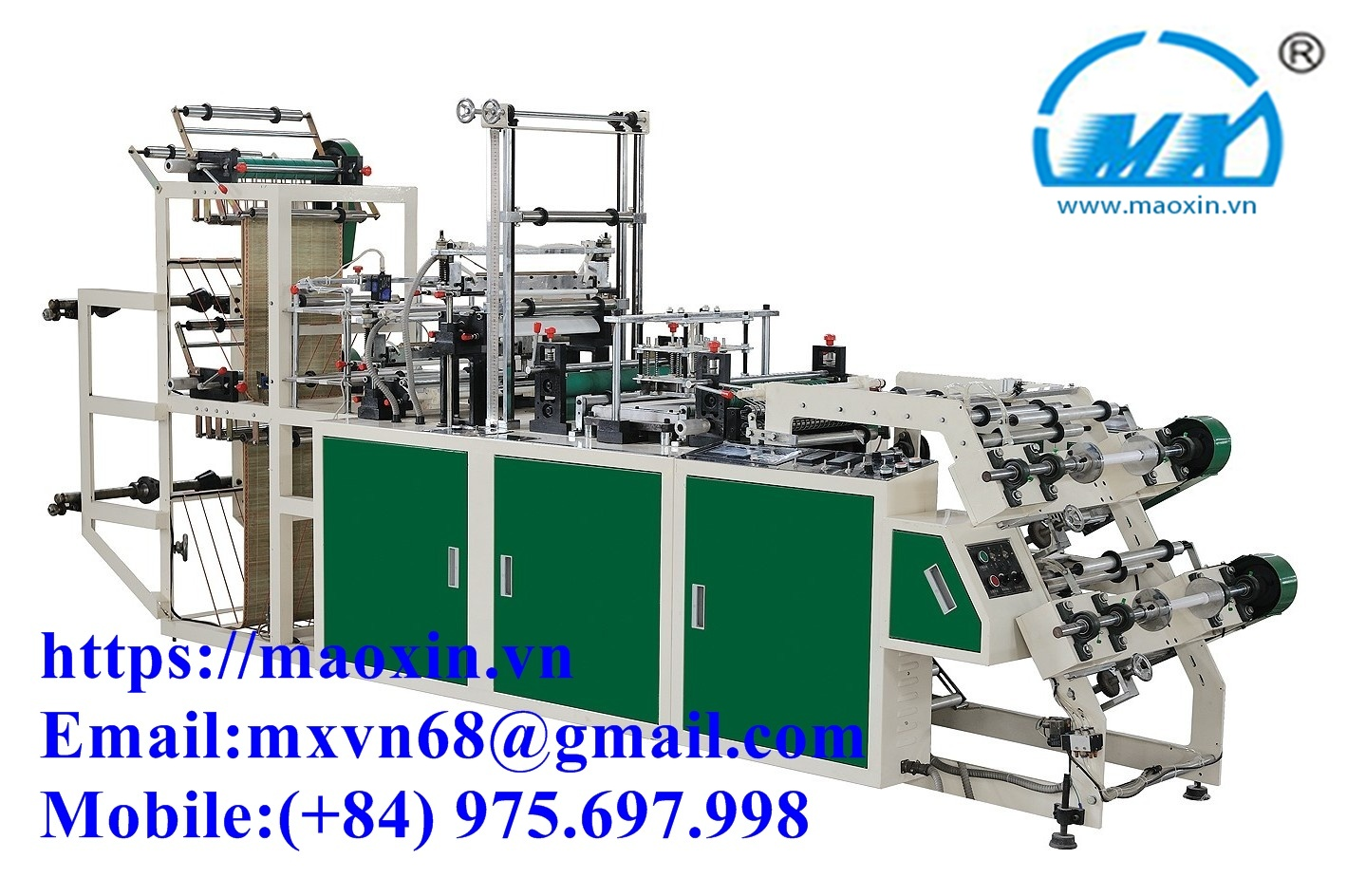 MX-500 Control Rolls And T-Shirt Bag Mamking Machine