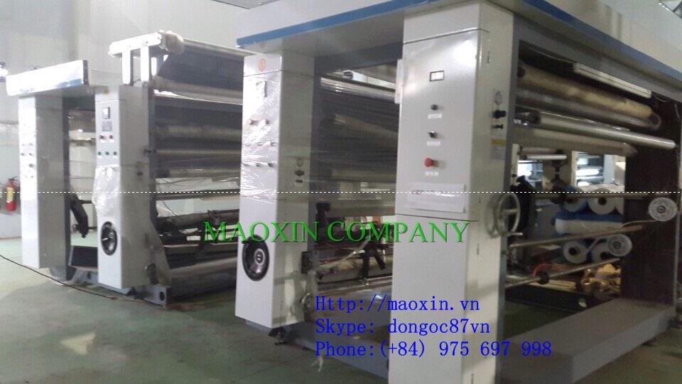 Two Colour Four Set Gravure Plastic Film Printing Machine
