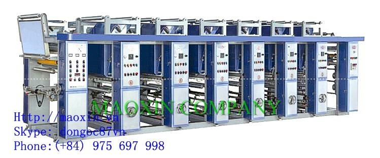 Six colour Gravure Plastic Film Printing Machine