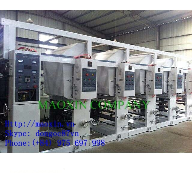 Four color six set Gravure Plastic Film Printing Machine
