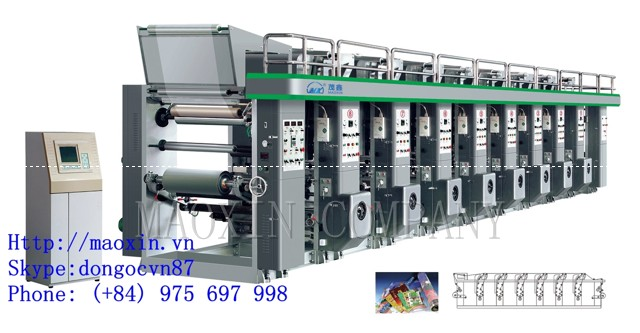 Eight colour Gravure Plastic Film Printing Machine
