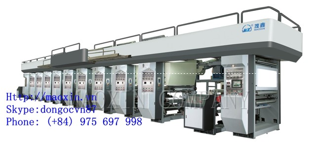 Eight colour Automatic Electronic Shaft High Speed Gravure Printing Machine