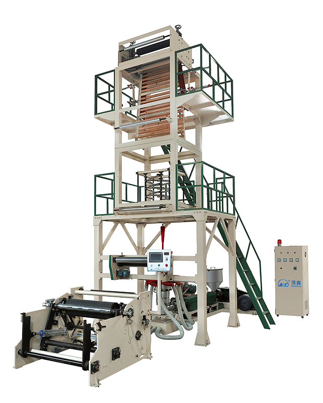 Automatic rewinding HDPE,LDPE film blowing machine