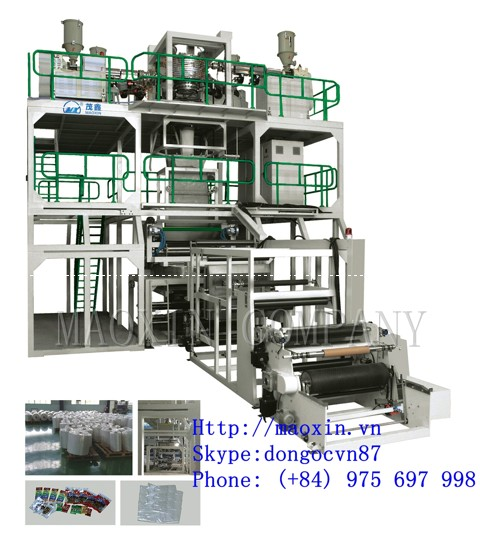 MXSJ SERIES3-5 Layer Co-extrusion(rotary traction downward blowing) High Barrier Film Blowing Machine Line