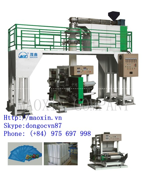 MXDC SERIES Monolayer(rotary traction downward blowing) Water-cooling Film Blowing Machine Line