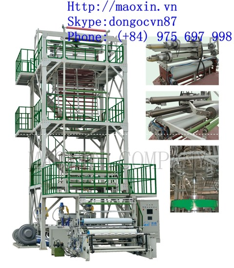 MXSX SERIES 3-5 Layer Co-extrusion(upward blowing rotary traction) Film Blowing Machine Line