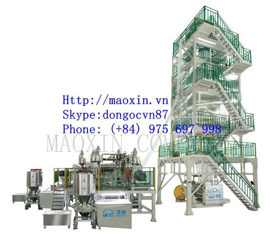 MX-POF SERIES 3-5 Layer Co-extrusion Heat Shrink Film Blowing Machine Line
