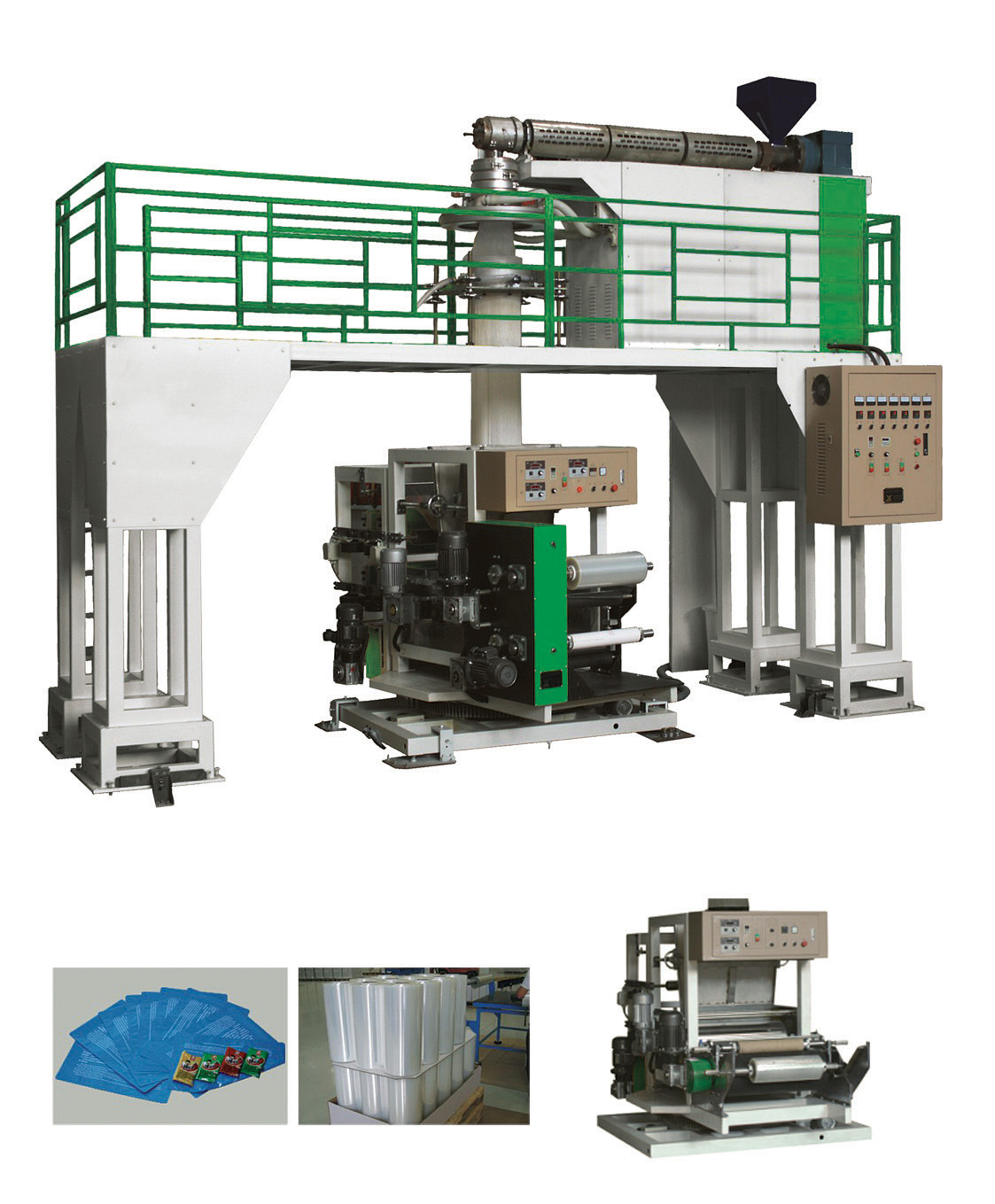 Downward blowing Water-cooling Film Blowing Machine
